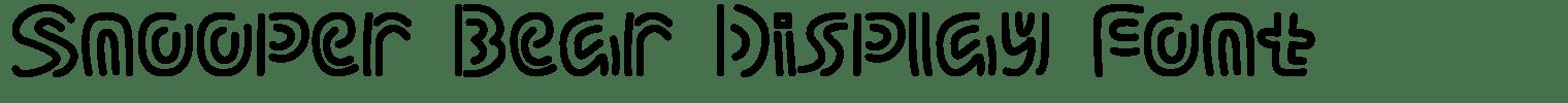 Snooper Bear Display Font