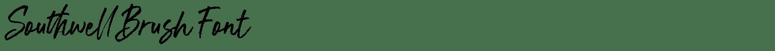 Southwell Brush Font