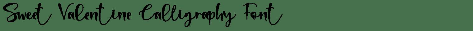 Sweet Valentine Calligraphy Font