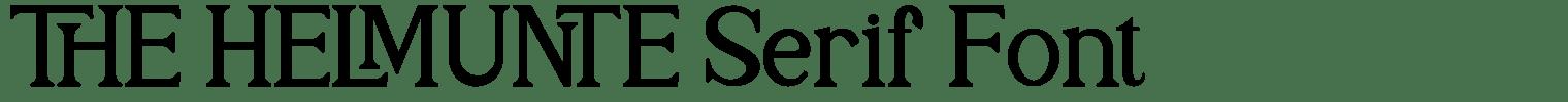 THE HELMUNTE Serif Font