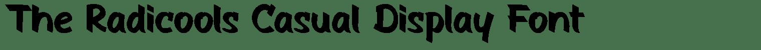 The Radicools Casual Display Font
