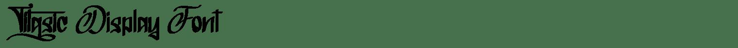 Titasic Display Font