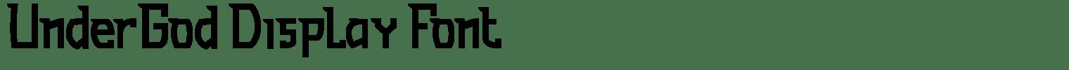 UnderGod Display Font