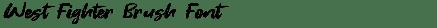West Fighter Brush Font
