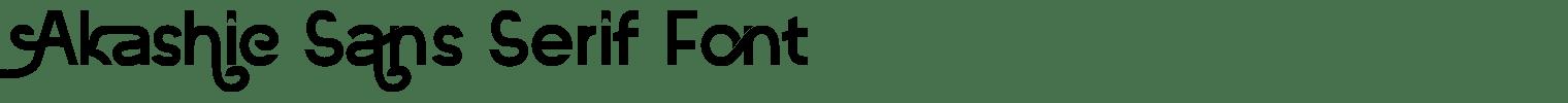 Akashic Sans Serif Font