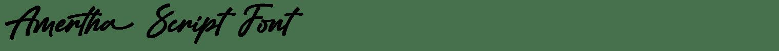 Amertha Script Font