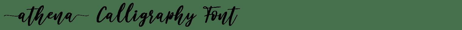 Athena Calligraphy Font