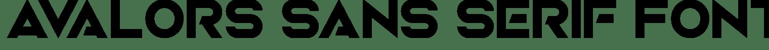 Avalors Sans Serif Font