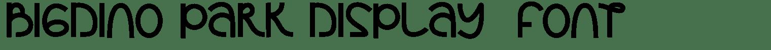 Bigdino Park Display  Font