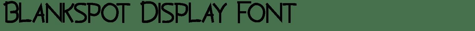 Blankspot Display Font