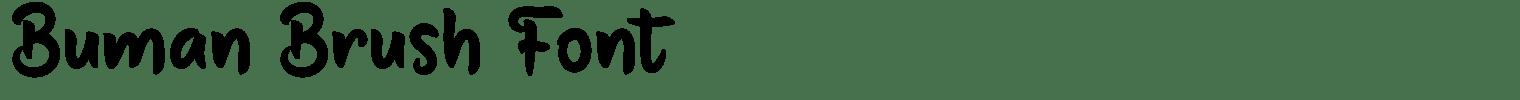 Buman Brush Font