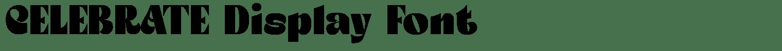 CELEBRATE Display Font