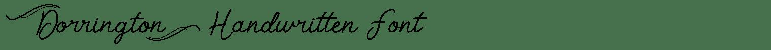 Dorrington Handwritten Font