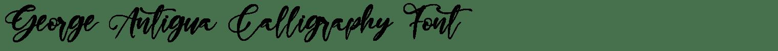 George Antigua Calligraphy Font
