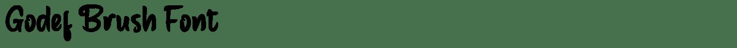 Godef Brush Font