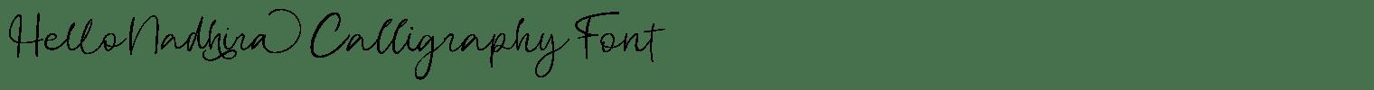 Hello Nadhira Calligraphy Font