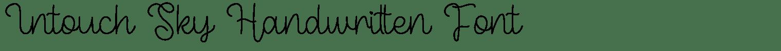 Intouch Sky Handwritten Font