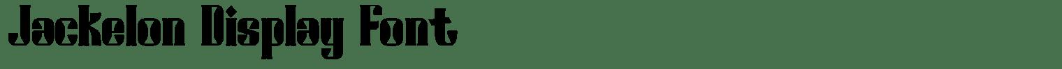 Jackelon Display Font