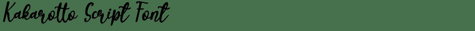 Kakarotto Script Font