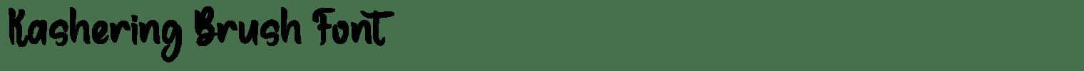 Kashering Brush Font