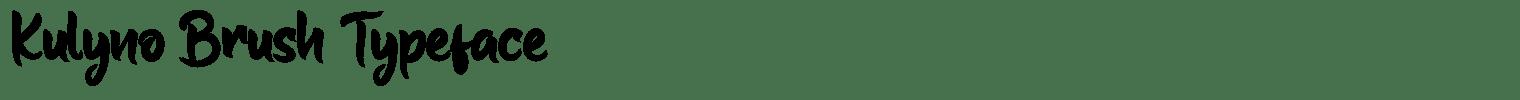 Kulyno Brush Typeface