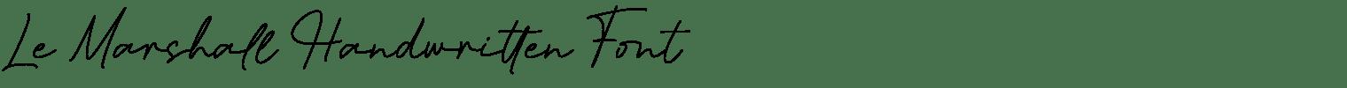 Le Marshall Handwritten Font