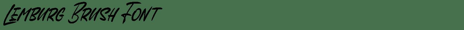 Lemburg Brush Font