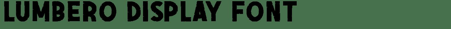 Lumbero Display Font