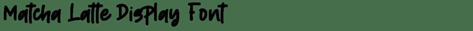 Matcha Latte Display Font