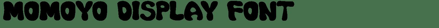 Momoyo Display Font