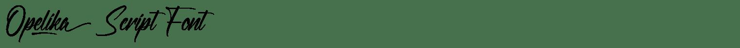 Opelika Script Font