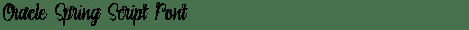 Oracle Spring Script Font