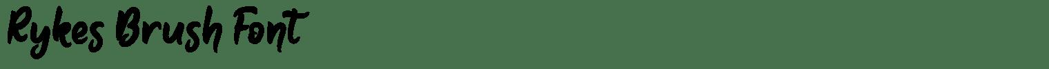 Rykes Brush Font