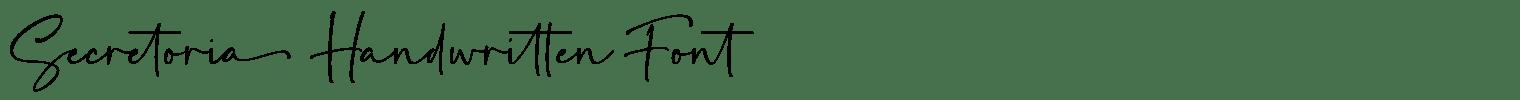 Secretoria Handwritten Font