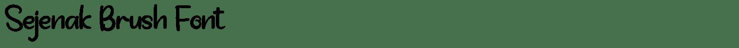 Sejenak Brush Font