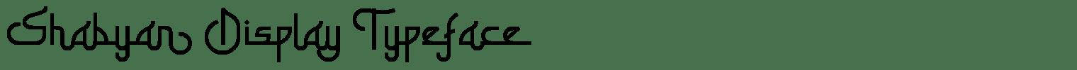 Shabyan Display Typeface