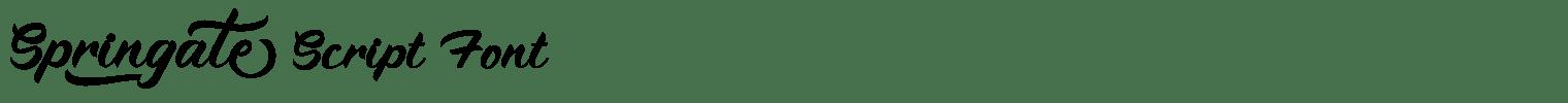 Springate Script Font