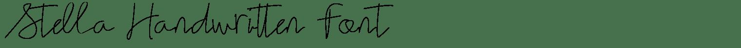 Stella Handwritten Font