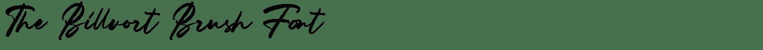 The Billvort Brush Font