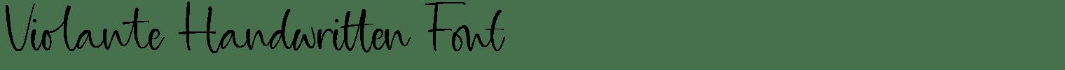 Violante Handwritten Font
