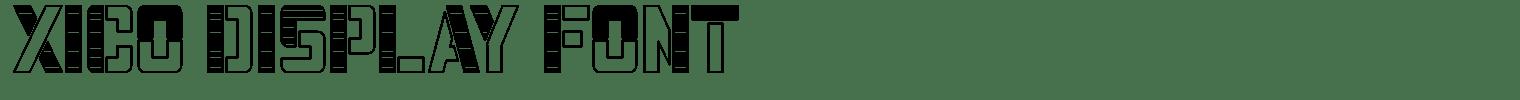 Xico Display Font