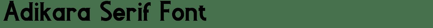 Adikara Serif Font
