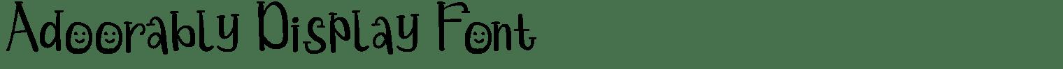 Adoorably Display Font