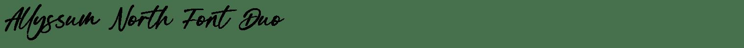 Allyssum North Font Duo