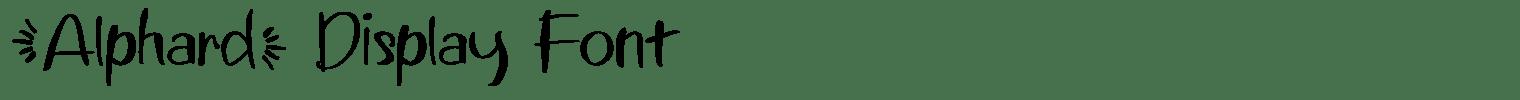 Alphard Display Font