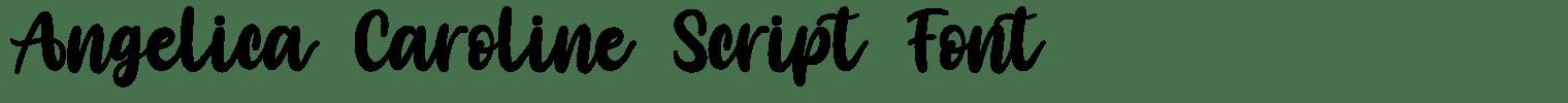 Angelica Caroline Script Font