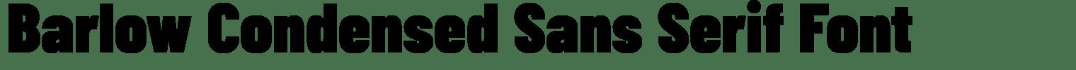 Barlow Condensed Sans Serif Font