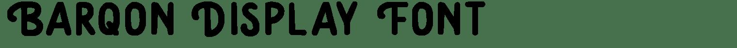 Barqon Display Font