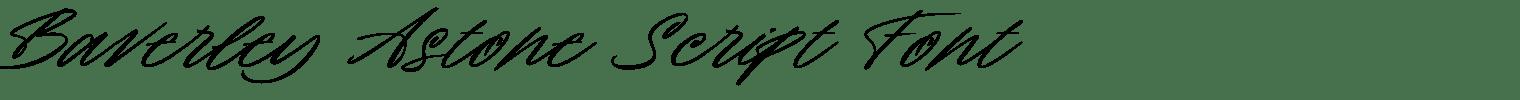 Baverley Astone Script Font