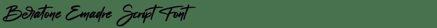 Beratone Emadre Script Font
